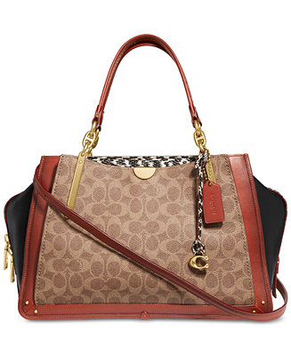 Coated Canvas Signature Exotic Dreamer 36 Satchel by General
