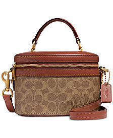 COACH Coated Canvas Signature Trail Bag
