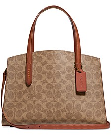 Coated Canvas Signature Charlie 28 Satchel