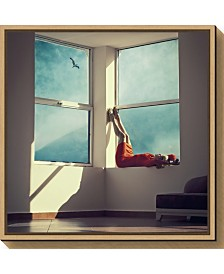 Amanti Art room with a view by Ambra Canvas Framed Art