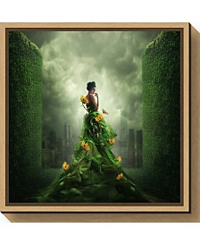 Amanti Art Go Green by Hardibudi Canvas Framed Art