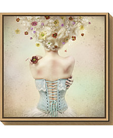 Amanti Art Girl of the flower garden by Kiyo Murakami Canvas Framed Art
