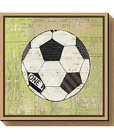 Baseball Play Ball I Soccer by Courtney Prahl Canvas Framed Art