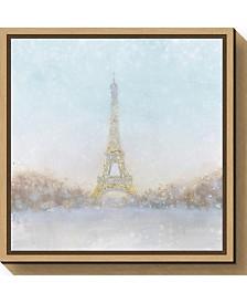 Amanti Art Eiffel Romance no Couple Turquoise by Marco Fabiano Canvas Framed Art