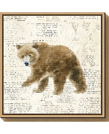Amanti Art Into the Woods VI no Border Bear by Emily Adams Canvas Framed Art