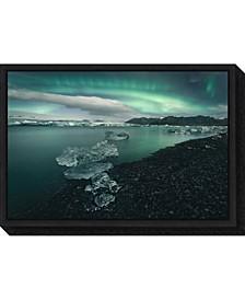 Jokulsarlon Iceland by Antonio Carrillo Lopez Canvas Framed Art