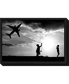 Fly my Plane by Trijoko Canvas Framed Art
