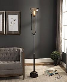 Uttermost Amaleeda Amber Glass Floor Lamp