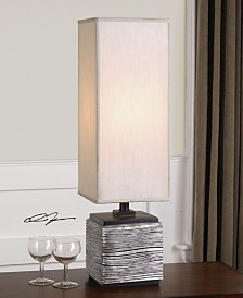 Uttermost Ciriaco Antiqued Silver Buffet Lamp