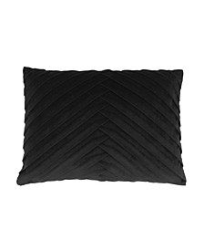 """James Pleated Velvet Pillow, 20"""" x 14"""""""