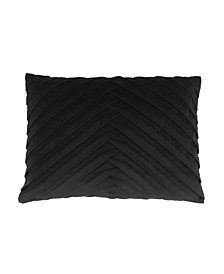 James Pleated Velvet Pillow
