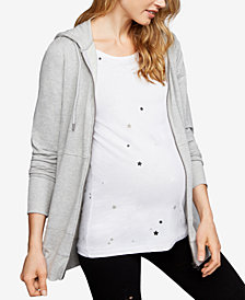 A Pea In The Pod Maternity Zip-Front Hoodie