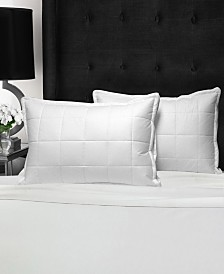 """Swiss Comforts Loft Quilted Downproof Cotton Pillow, 20""""X30"""""""