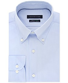 Men's Classic/Regular Fit TH Flex Non-Iron Supima Stretch Solid Dress Shirt