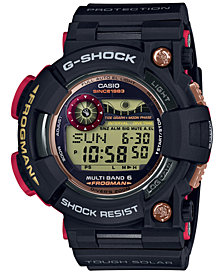 G-Shock Men's Solar Digital Frogman Black Resin Strap Watch 52.8mm, A Special 35th Anniversary Edition