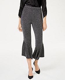 I.N.C. Ruffle-Leg Cropped Pants, Created for Macy's