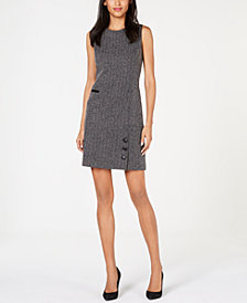 Anne Klein Stretch Tweed Sheath Dress