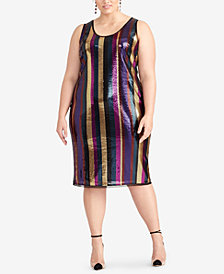 RACHEL Rachel Roy Plus Size Sequined Dress, Created for Macy's