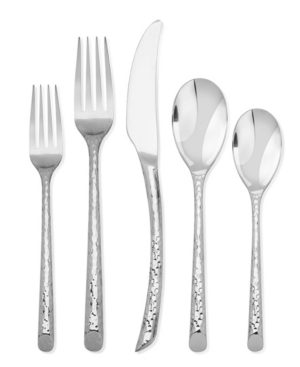 Argent Orfevres Hampton Forge Olivia Mirror Hammered Forged 5-Piece Place Setting