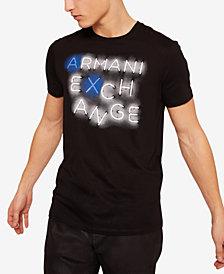 A|X Armani Exchange Men's Neon Light Logo Print T-Shirt