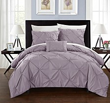 Daya 4 Pc Queen Duvet Cover Set