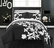 Chic Home Calla Lily 3 Piece Queen Duvet Cover Set