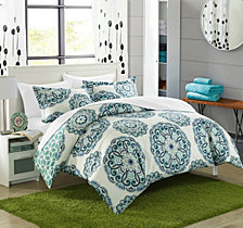 Chic Home Ibiza 3 Piece Full/Queen Duvet Cover Set