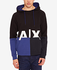 A|X Armani Exchange Men's Colorblocked Logo Hoodie