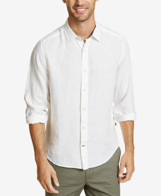 폴로 랄프로렌 Polo Ralph Lauren Nautica Mens Classic-Fit Solid Linen Shirt