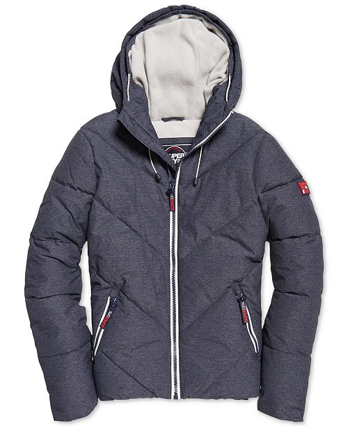 Superdry Men's Quilted Hooded Jacket & Reviews Coats