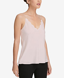 DKNY Scalloped V-Neck Cami, Created for Macy's
