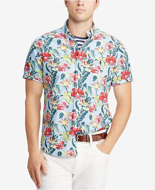 7076baf410e7 ... Polo Ralph Lauren Men s Big   Tall Classic Fit Floral-Print Cotton Shirt  ...