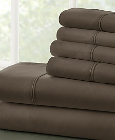 Solids in Style by The Home Collection 6 Piece Bed Sheet Set, Cal King