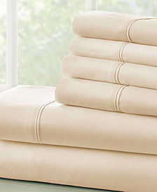 Solids in Style by The Home Collection 6 Piece Bed Sheet Set, Full