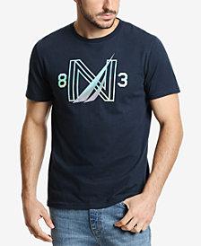 Nautica Men's Gradient J-Class Logo Graphic T-Shirt