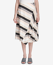 Calvin Klein Striped Ruffled Skirt