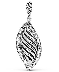 Carolyn Pollack Ribbed Scroll Pendant Enhancer in Sterling Silver