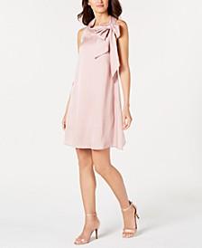 Petite Satin Trapeze Dress
