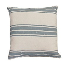 "Polyester Fill Dolly Farm Stripe Pillow, 20"" x 20"""