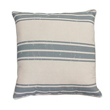 "Thro Polyester Fill Dolly Farm Stripe Pillow, 20"" x 20"""