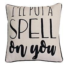 "Thro Polyester Fill Sosa Spell Reversible Diamond Printed Pillow, 20"" x 20"""