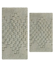 Melange 2 pc set, 17x24 & 21x34 Cotton Bath Rugs