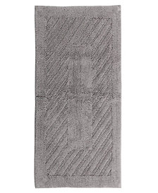 Diagonal Racetrack 24x40 Cotton Bath Rug