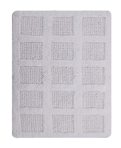 Perthshire Platinum Collection Square Honeycomb 22x60 Cotton Bath Rug