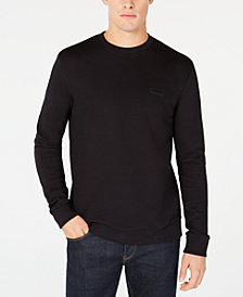HUGO Men's Oversized-Fit Backward Logo Sweater