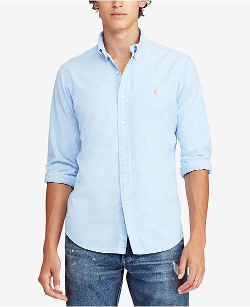 d73c5d9c Polo Ralph Lauren Men's Big & Tall Classic Fit Oxford Shirt & Reviews ...