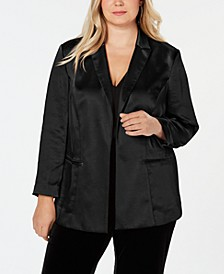 INC Plus Size Open-Front Blazer, Created for Macy's