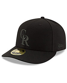 New Era Colorado Rockies Triple Black Low Profile 59FIFTY Fitted Cap