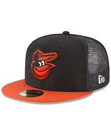 New Era Baltimore Orioles On-Field Mesh Back 59FIFTY Fitted Cap