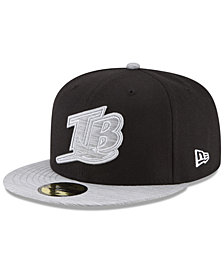 New Era Tampa Bay Rays Black Heather Coop 59FIFTY Fitted Cap